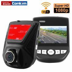Car DVR Camera WiFi APP Mini Hidden Cam Novatek 96658 Full HD1080P Sony IMX323 2.45inch LCD G-Sensor Car Video Recorder Dash Cam