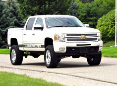 This will soon be my Jacked up white Chevy Silverado
