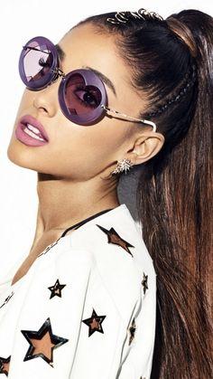 Ariana Grande, brunette, sunglasses, 2018, 720x1280 wallpaper
