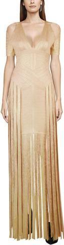 Gold Metallic Fringe Dress