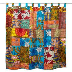 african patch shower curtain...