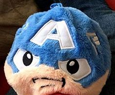"""Fuzzbies Captain America Marvel Avengers by Imperial Toy 5"""" Ball Boys Light Blue #Fuzzbies"""