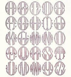 Art deco monograms for invite