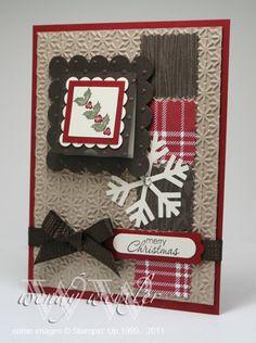 christmas peek a boo card