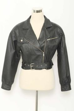 Purchased for SANDY  on it's way to Plymouth  Jay-Jacobs-Vintage-Black-Leather-Cropped-Motorcycle-Jacket-Size-S-2924-ST216