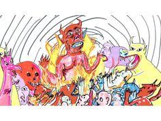 Daniel Johnston's Space Ducks comic goes to the next level, aka the iPad Daniel Johnston, Doodle Tattoo, Cool Art, Awesome Art, Artsy Fartsy, Art Inspo, Doodles, Comic Books, Graphic Design