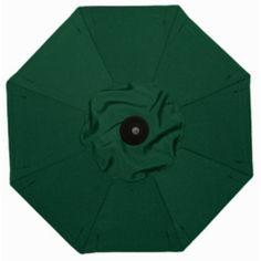 Galtech 7.5-ft. Deluxe Auto Tilt Patio Umbrella Sunbrella Forest Green / Grade B - BH727BK-52