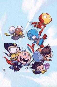"COMICS: Marvel Unveils Skottie Young's Fantastic ""Marvel Babies"" NOW! Variants"