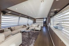 The #Interior #Design #MadeInItaly on board of the Ferretti #Yachts 870