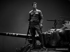 Fury promo shot of Brad Pitt