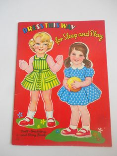 Vintage Paper Dolls Little Girl and Baby Paper by LizandLaurie, $8.00