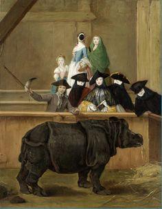 Pietro Longhi - Exhibition of a Rhinoceros