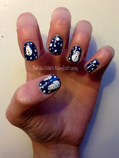 SNOWMAN Christmas #nail #nails #nailart