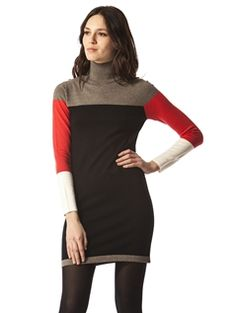 525 America Colorblock Mock Neck Dress | 525america.com