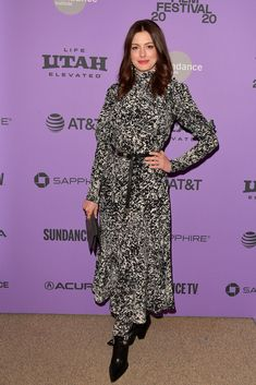 Sundance Film Festival, Carpet Styles, Anne Hathaway, Red Carpet Fashion, Utah, Dresses With Sleeves, Long Sleeve, Sleeve Dresses, Gowns With Sleeves
