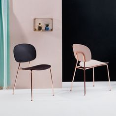 Slender Chairs in Bold Colours by Infiniti designed in Italy #MONOQI