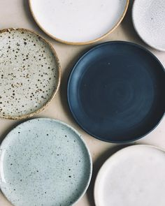 Stoneware plates in various glazes and sizes. I've spent much of the year testin. Stoneware plates in various glazes and sizes. I've spent much of the year testing and refining a new collection of w