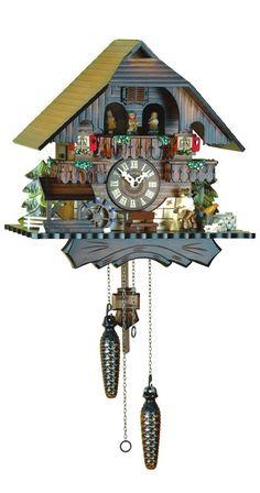 Quartz Musical Man Chopping Wood Cuckoo Clock