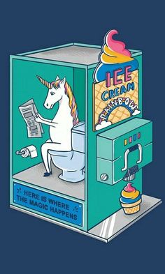 Yumm unicorn ice cream/poop lol