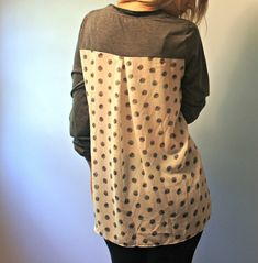 Pomelo Dido Mixed Print Knit Top Back Stitch Fix Review July 2014