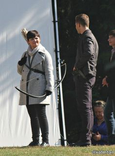 """Ginnifer Goodwin and Josh Dallas, - Behind the scenes - 6 * 1 """"The Savior"""" - 30 August"""