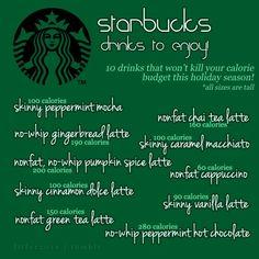 Starbucks Drinks to Enjoy Guilt Free!