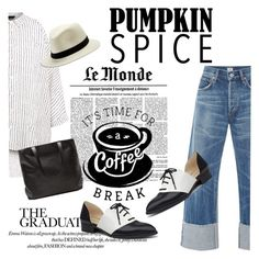 """""""Time For a Coffee Break/Pumpkin Spice"""" by clotheshawg ❤ liked on Polyvore featuring New Look, Lucky Brand, Citizens of Humanity and Nine West"""