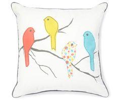 """Four Birds Throw Pillow, (18"""" x 18"""") at Big Lots."""