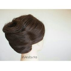 A loose French roll updo. Instagram@styles.by.tia French Roll Updo, All Things Beauty, Updos, Hair, Instagram, Style, Fashion, Up Dos, Swag