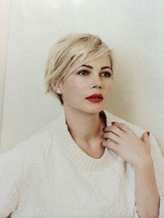 michelle williams red lips