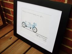 Tandem Bike with quote Personalized Wedding by Lane34greetings,wedding gift