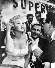 Marilyn Monroe at the opening of the Time Life Building, New York, 1957