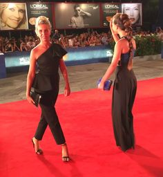 """Actress Giorgia Marin (L)and actress Ludovica Coscione rrive for the premiere of """"Brimstone"""" presented in competition at the 73rd Venice Film Festival on September 3, 2016 at Venice Lido."""