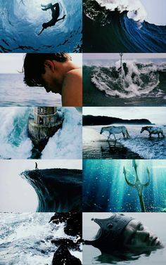 POSEIDON Poseidon was one of the Twelve Olympians in ancient Greek religion a. - Magic and other emotional stuff - Religion Greek Mythology Gods, Greek Gods And Goddesses, Ancient Greek Religion, Arte Peculiar, Les Winx, Daughter Of Poseidon, Aesthetic Collage, Heroes Of Olympus, Character Aesthetic