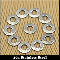 M3 M4 M5 M6 304 Stainless Steel 304ss Clinch Curved Saddle Single Coil Dish Disc Spring Lock Washer