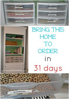 Craft Room Paper Storage