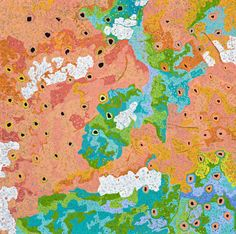 Daniel Walbidi 'All the Jila' - his drawing of the outback, meant to show the layers of the desert