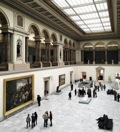 """toujoursdramatique: """"There are many things I love about Europe, and one of the top things is definitely the art museum scene. (at Musee Des Beaux Arts, Brussels) """" Museum Logo, Art Museum, Classical Architecture, Art And Architecture, Louvre Museum, Night At The Museum, The Secret History, Art Hoe, Exhibition"""