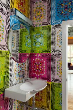 Living at it's best - contemporary - Powder Room -