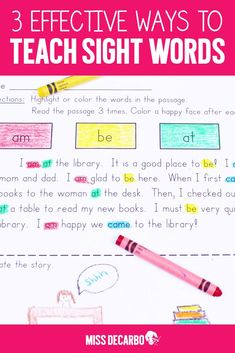 Three Ways to Help Students Who Struggle With Sight Words - Miss DeCarbo