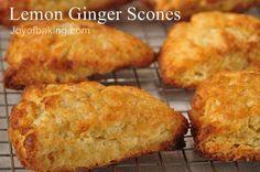Scones with Lemon and Ginger Recipe - Joyofbaking.com - make for Heather