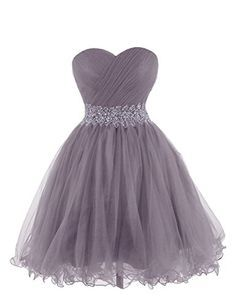 KARMA PROM Women's Sweetheart Tulle Cocktail Dress Homecoming Dress US16 Grey