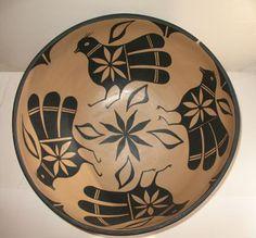 Bowl by Vidal Aguilar, Kewa artisan