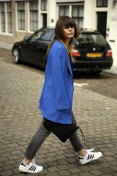 low cost 95946 49ad4 Adidas Superstar Sneakers, 6ks Blue Coat