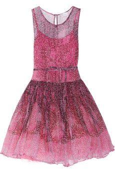 RED Valentino Animal-print silk-chiffon dress #fashion @NET-A-PORTER Group LTD IT Careers