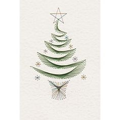 Stitching Cards Christmas Tree