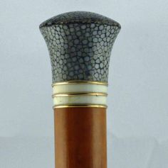 Shagreen Gold and Ivory Cane Date: 1910   Country: English