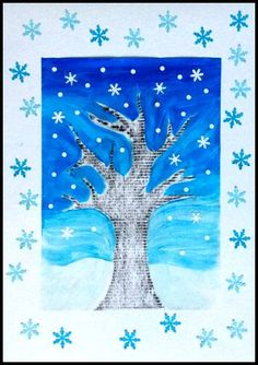 Annalisa Leone's media statistics and analytics Winter Activities For Toddlers, Winter Crafts For Kids, Art For Kids, Winter Art Projects, Winter Project, Winter Trees, Winter Fun, January Art, Owl Theme Classroom