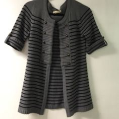 Open front, short sleeve cardi. 27 inches from top to bottom Love by Design Sweaters Cardigans