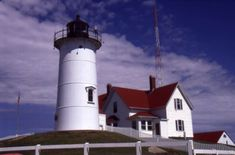 Nobska Light in The Woods Hole  section of Falmouth (Cape Cod)